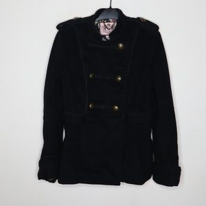 Juicy Couture Black Double Breasted Coat Jacket